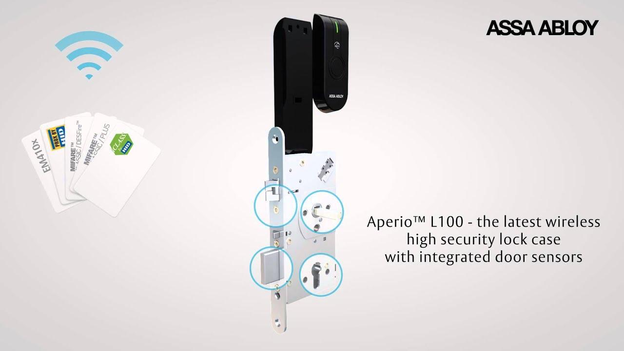 New Assa Abloy Access Control Aperio L100 Youtube