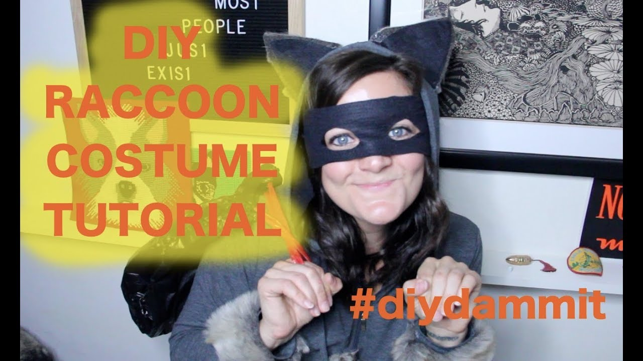 How To Make A Diy Raccoon Costume Tutorial Diy Dammit Youtube