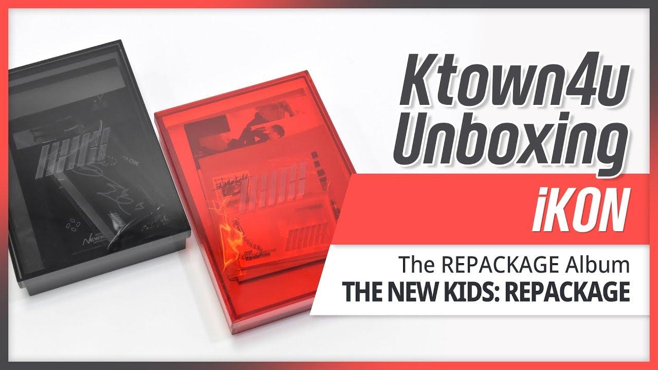 Unboxing iKON - [THE NEW KIDS: REPACKAGE] Album 아이콘 뉴키즈 리패키지 언박싱 KPOP  Ktown4u