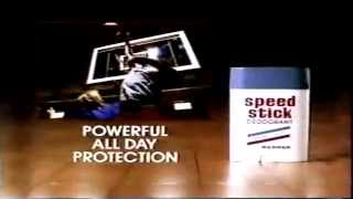 March 1990 speed stick deodorant talc commercial by mennen Thumbnail