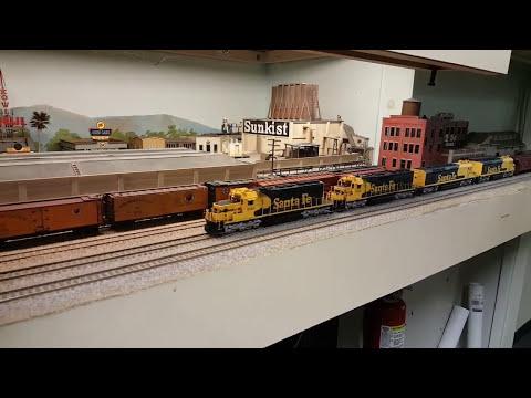 Santa Fe Borate Train - Pacific Coast Lines