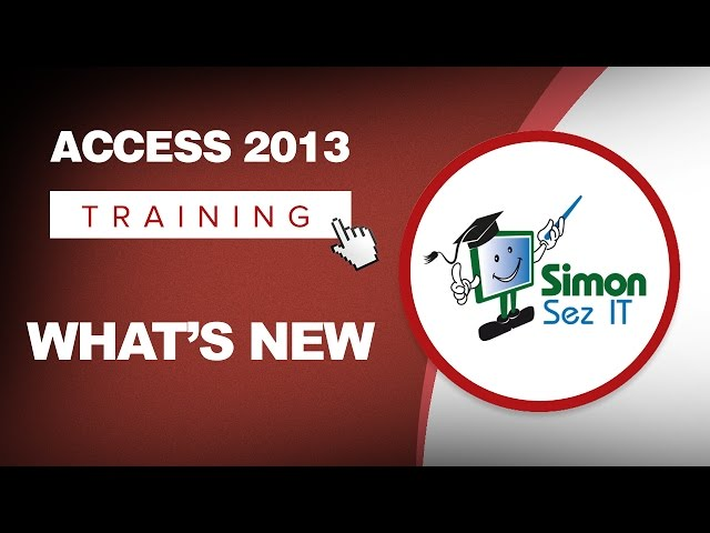 Access 2013 Training Tutorials