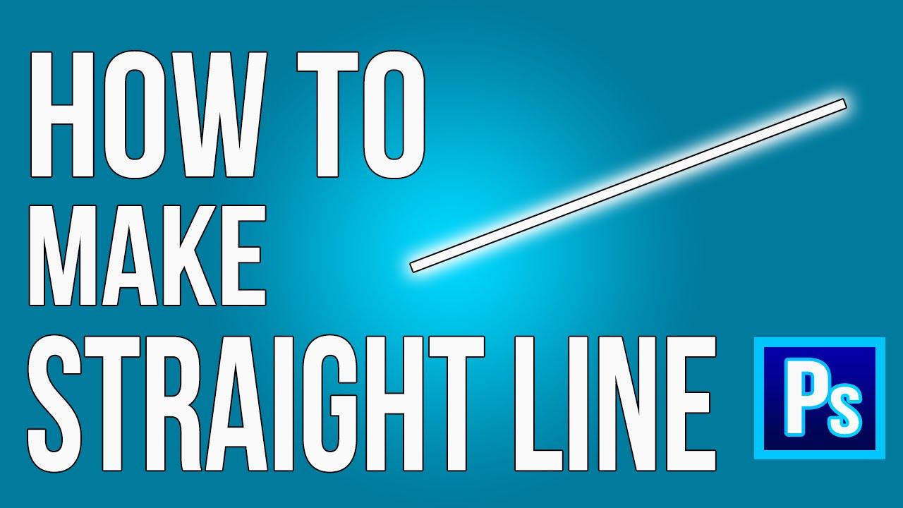 Draw Straight Line Artrage : Photoshop tutorial how to make straight line kappa