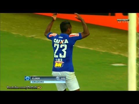 Gol de Élber, Cruzeiro 2 x 2 Figueirense - Brasileirão 21/05/2016 [HD]