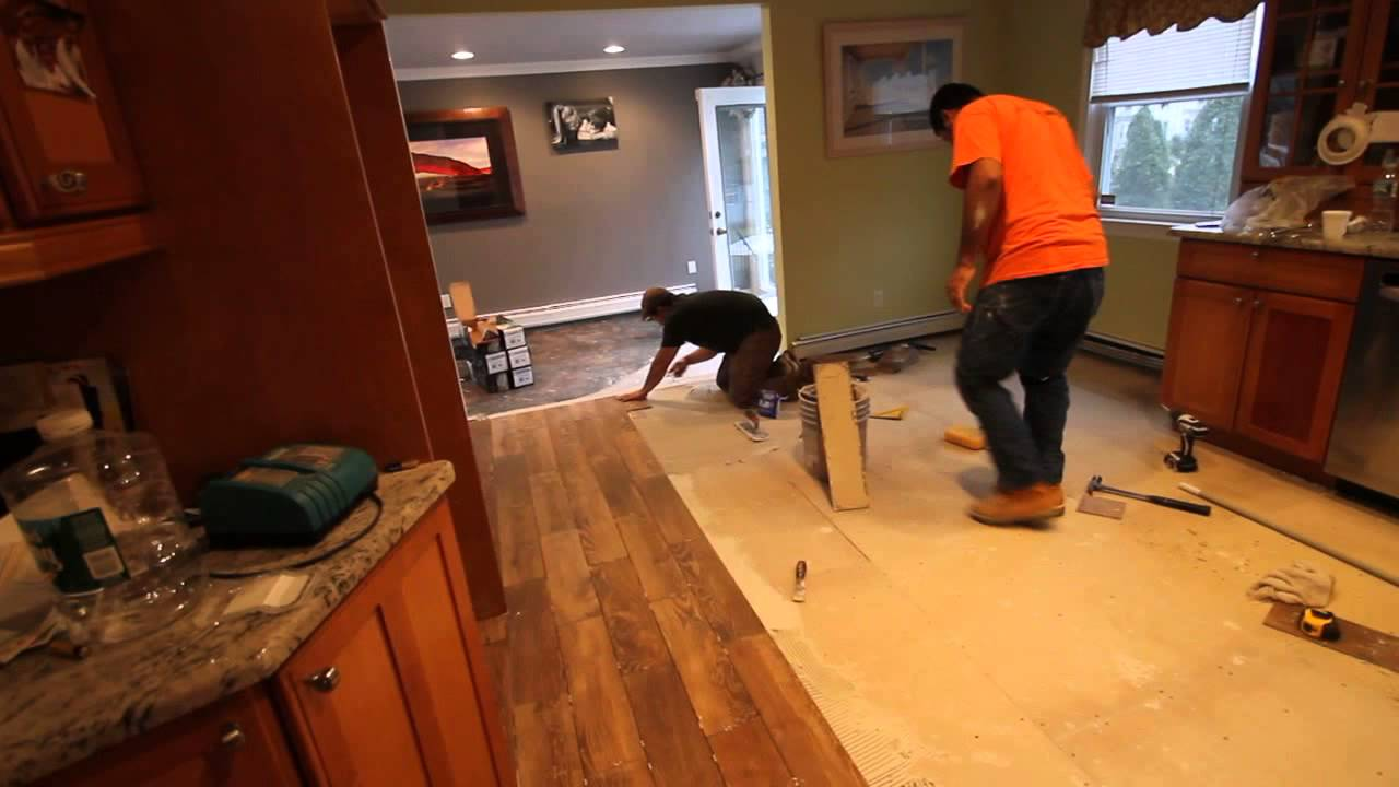 Installation of 4 x 21 porcelain tile that looks like wood nj installation of 4 x 21 porcelain tile that looks like wood nj kitchens and baths dailygadgetfo Choice Image