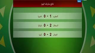 نتائج مباريات كأس أمم افريقيا وترتيب المنتخبات بالمجموعات   ومواعيد المباريات التالية