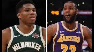 La Lakers vs Milwaukee Bucks stats compersion   HD 1080p