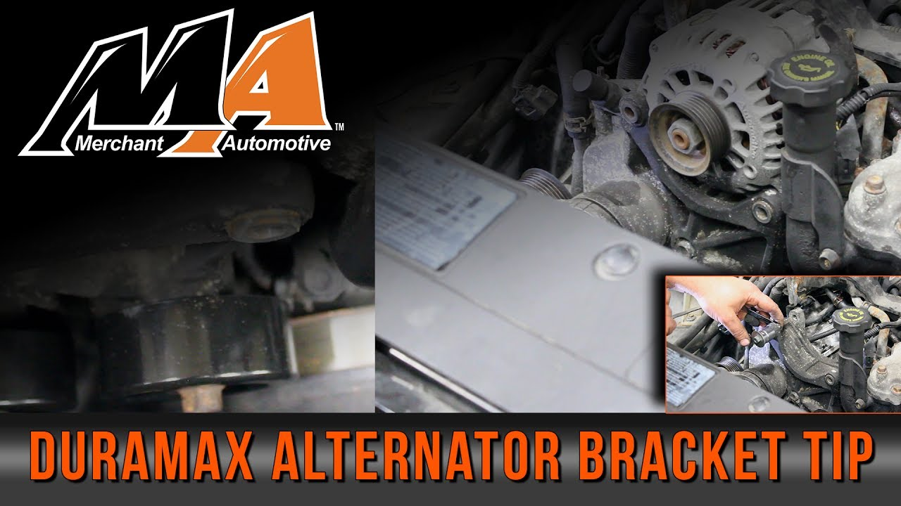 small resolution of easier alternator installation great time saving tip and avoids expensive damage duramax shown