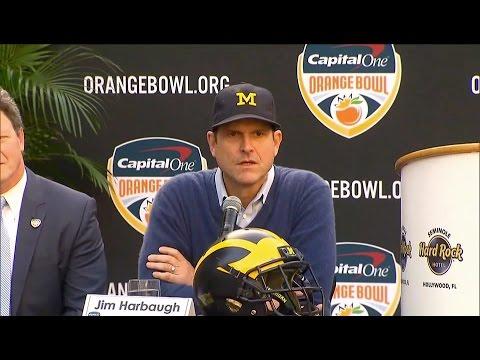 Jim Harbaugh Orange Bowl Presser Highlights