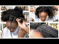 Heatless Blowout With Thread ::  African Hair Threading To Stretch 4c Natural Hair