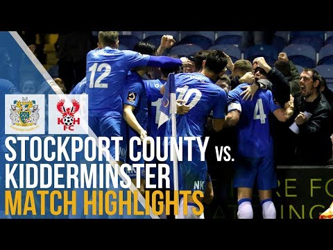 Stockport County Vs Kidderminster Harriers - Match Highlights - 29.12.2018