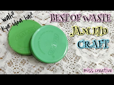 Best Out Of Waste Jam Bottle Craft Easy