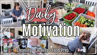 CLEAN WITH ME AFTER GROCERY HAUL 2019 :: SPEED CLEANING MOTIVATION :: FOOD PREP + CROCKPOT RECIPE