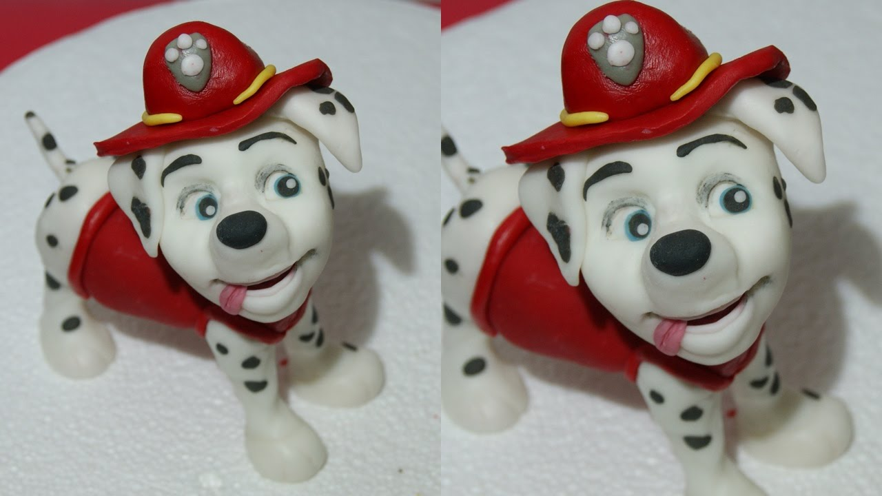 How To Make Marshall Paw Patrol Tutorial Cake Topper