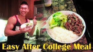 COOK EASY COLLEGE MEAL - LIFE AFTER COLLEGE VIDEOS