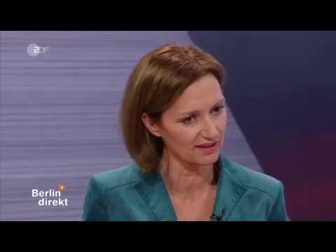 ZDF Berlin direkt  Interview mit Angela Merkel am 11. Februar 2018