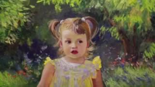 Фото Портрет дочери Василисы детский портрет художник Фания Сахарова