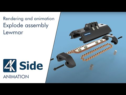 Creo Rendering animation: Explode assembly - Lewmar