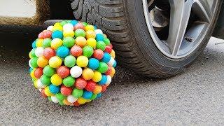 Crushing Crunchy Soft Things by Car! SUPER GUM SUGAR VS CAR MERCEDES Test
