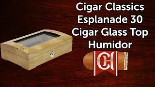 Cigar Classics Esplanade 30 Cigar Glass Top Humidor