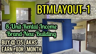 New 8 Units Rental Income Property in BTM 1st Stage Bengaluru