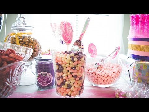 Creating a Candy Buffet for a Baby Shower!
