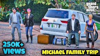 Micheal Family Trip | Lexus LX 570 | Real Life Mod # 131 l GTA 5 | Urdu | Leon Gaming