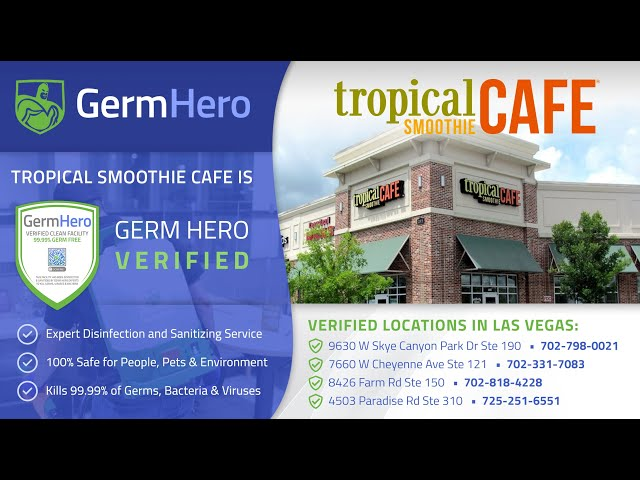 Tropical Smoothie Cafe is Germ Hero Verified ✅