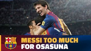 In recent seasons the argentinian has racked up 14 goals vs osasuna. ---- fc barcelona on social media subscribe to our official channel http://www..c...