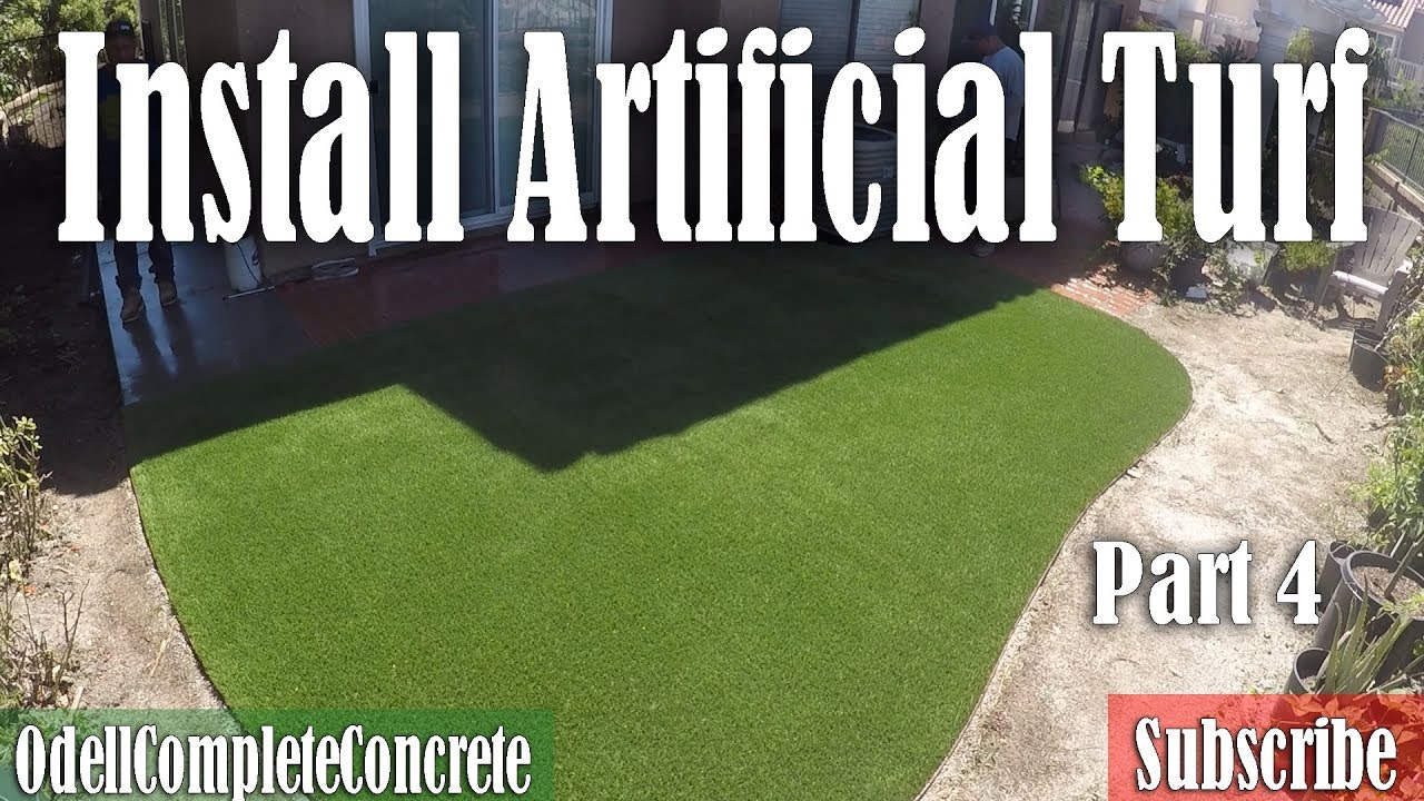How to Install Artificial Turf Grass part 4 DIY