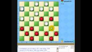 great American checkers  player in yahoo games USA 2rd game