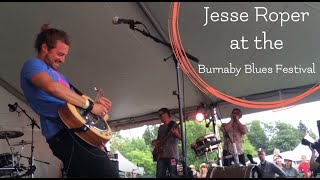 Jesse Roper at the Burnaby Blues and Roots Festival with