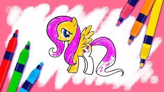 How to Paint Colors for Children Coloring My Little Pony
