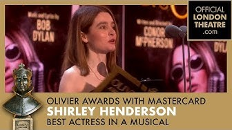 Shirley Henderson: winner of Best Actress In a Muscial at the Olivier Awards 2018 with Mastercard