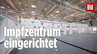 Hamburger impfzentrum: in den messehallen fehlt nur noch der impfstoff