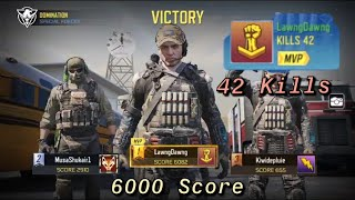 COD Mobile | 6000 Score + 42 Kill Win on Nuketown Domination!! (Call Of Duty Mobile)
