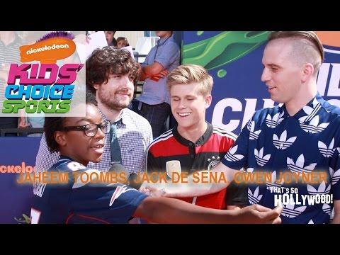 Jaheem Toombs, Owen Joyner and Jack De Sena talk Nick Kids Choice Sports Awards