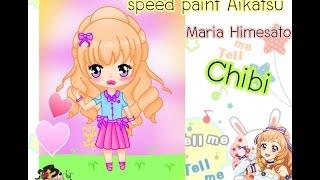 [Speed paint] Maria Himesato {Aikatsu} chibi