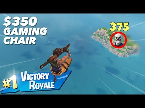 I One-pumped This Guy While Diving From The Sky (Playing Fortnite In $350 Gaming Chair)