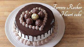 Ferrero Rocher Drip Heart Cake Recipe  Valentines &amp Birthday Cake Ideas