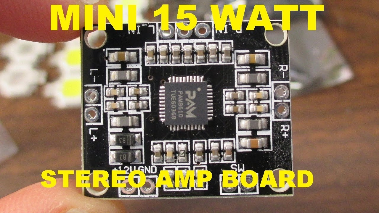 Pam8610 Tiny Stereo Audio Amplifier Board Review And Test Youtube Circuit 595x476 Lm386