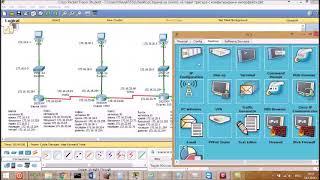 Реализиран адресен план със статична маршрутизация