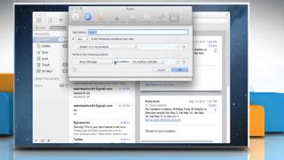 Automatic reply or forward messages in Mac® OS X™ Mail app