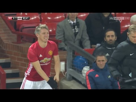 Bastian Schweinsteiger COMEBACK vs West Ham United HD 720p (30/11/2016) by 1900FCBFreak