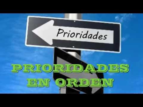 Prioridades en orden mensajes cristianos