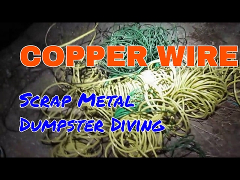 COPPER WIRE Trash to Cash - Dumpster Diving Diver Score Haul Scrap Metal Scrapping - Insulated Coper