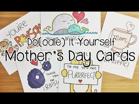 5 Pun-tastic DIY Mother's Day Card Doodles | Doodle with Me