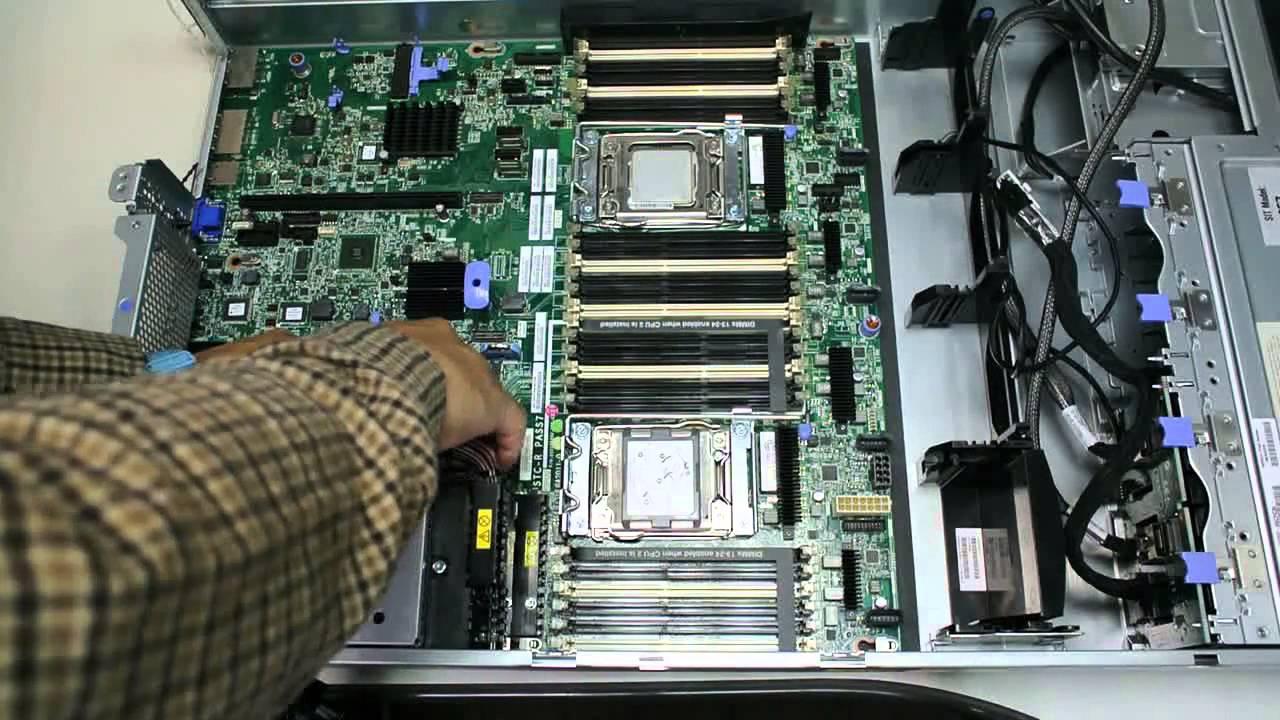 IBM System x3650 M4 Remove System Board  YouTube