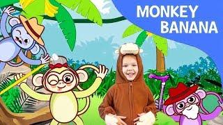 Monkey Banana-Baby Monkey | Animal Songs | Songs for Children