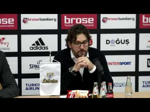 Pressekonferenz | Brose Bamberg vs. Olympiacos Piräus